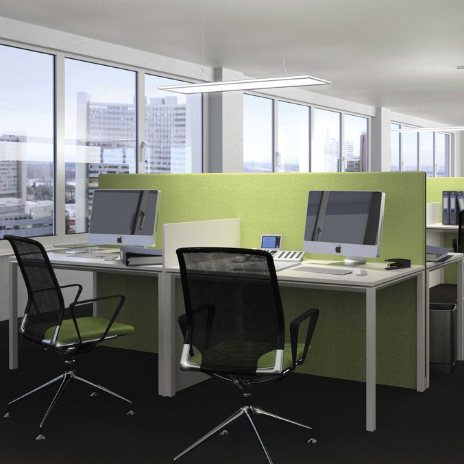 Use of plastic panels office lighting