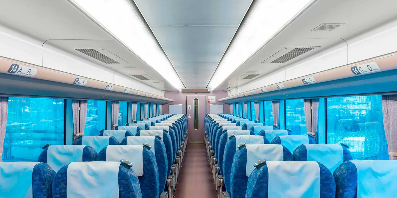 plastic profiles for lighting in trains