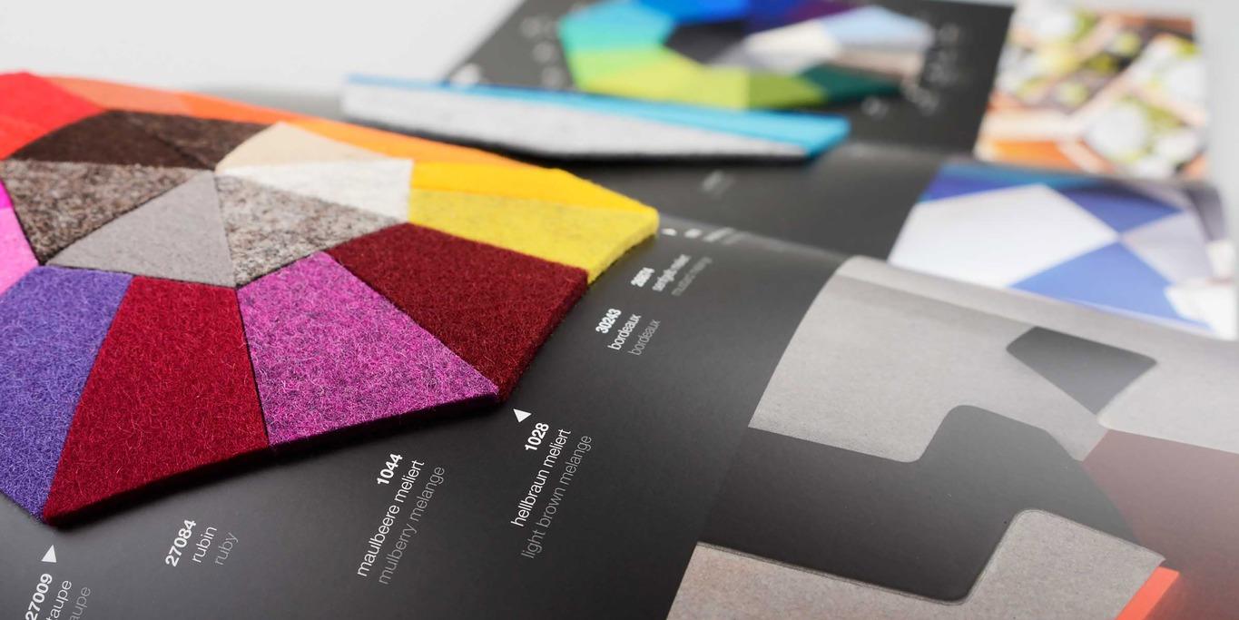BWF Feltec colour card design felt