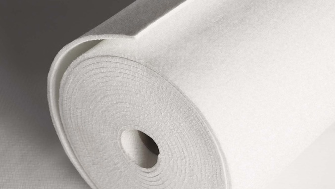 Roll of technical felt