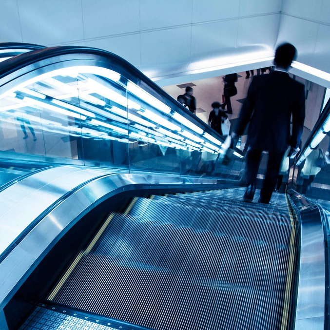 Lighting escalators elevators lifts plastic profiles