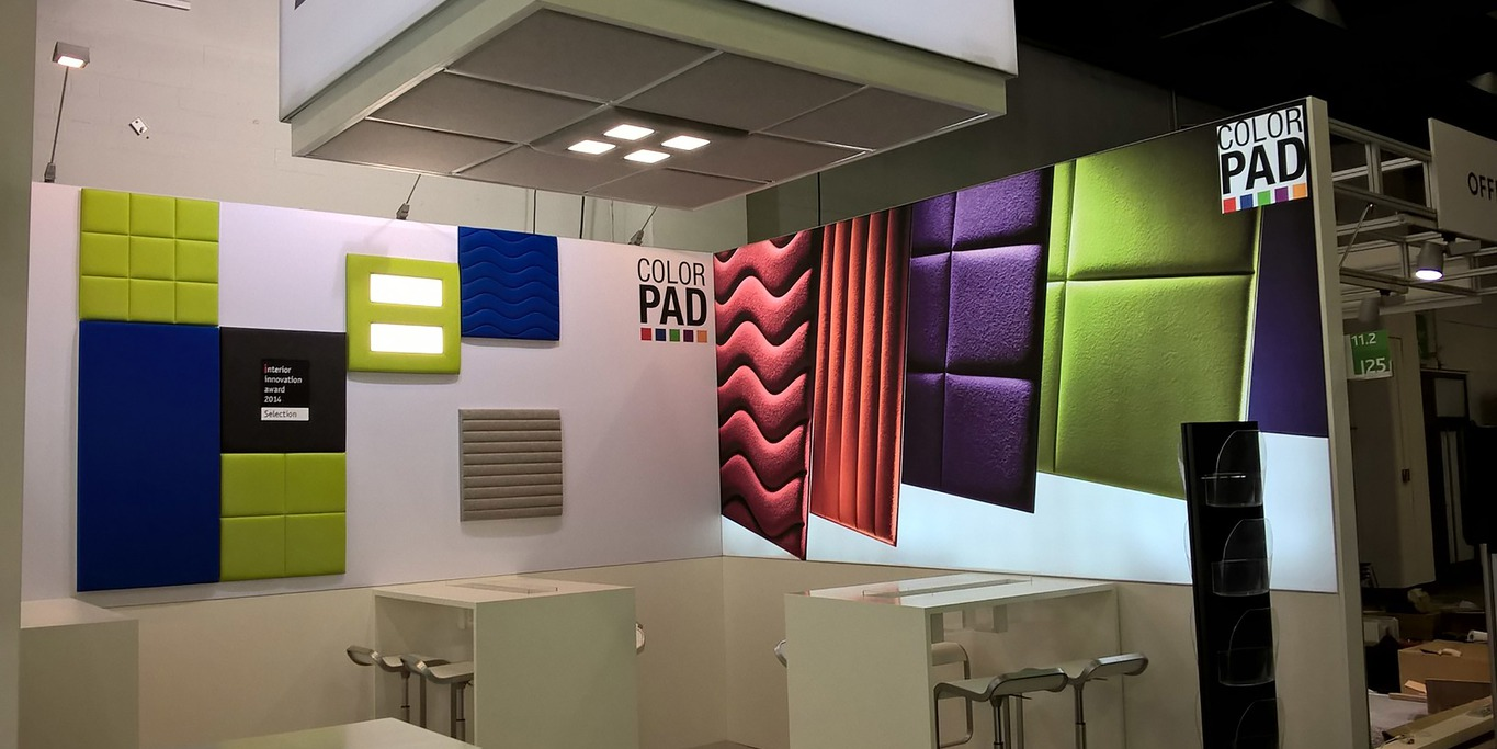 colorPAD acoustic panel booth at Orgatec Cologne