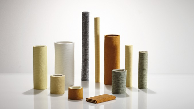 endless needled felt tubes and rollers