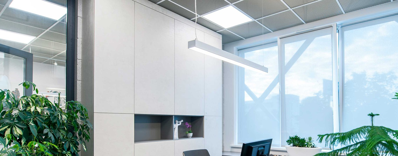 References plastic profiles sheets tubes office lighting