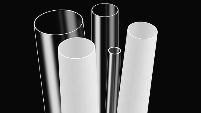 Plastic tubes from stock PMMA Polycarbonate