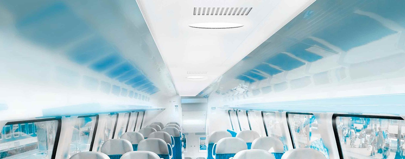 Extruded lighting profiles for trains