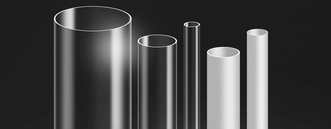 Tubes acrylic polycarbonated satinated