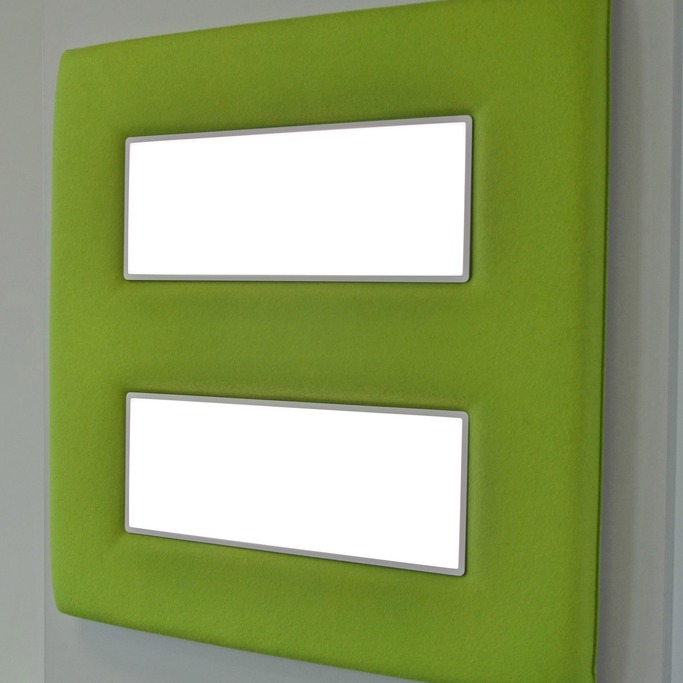 colorPAD acoustic panel with illumination